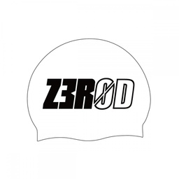 SWIM CAP WHITE LARGE LOGO